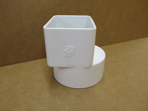 2x3x3 White PVC Offset Tile Adapter
