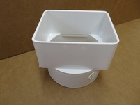 "More about the '3X4X4"" White PVC Center Mount Tile Adapter' product"