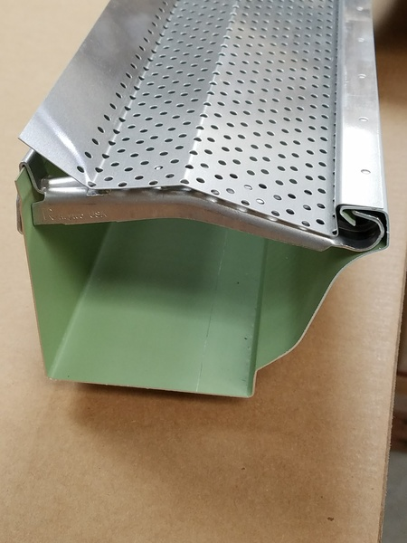 "5"" Mill Finish-----REAL® Gutter Cover for use with Hangfast™ or similar hangers (Copy of BG53.4)"
