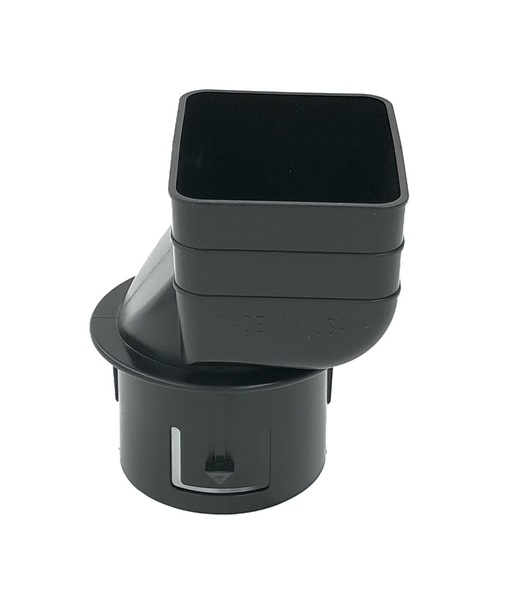 "2X3X3"" Downspout Adapter Black And White"