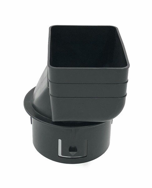 "3X4X4"" Downspout Adapter Black And White"