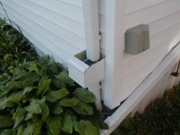 Downspout Debris Filter-Wall Mount
