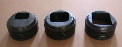 "More about the '6"" Black Corrugated Downspout Cap' product"