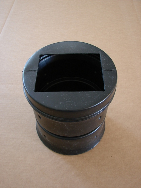 Customized Commercial Size Black Corrugated Adapters